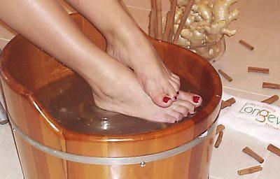 relaxar os pés