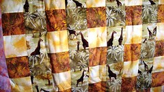 Giraffe Lap Quilt, (Bananabean Designs) Tags: hand made quilts patchwork