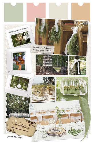 Decoration for an Aussie bush wedding