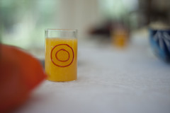 OJ in Shot Glass