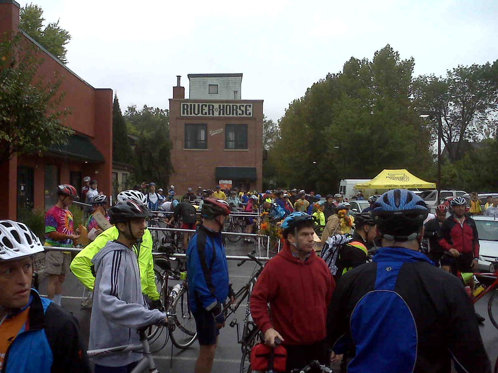 "The ""Hops to Hops"" MS Bike Ride, at the start in Lambertville"