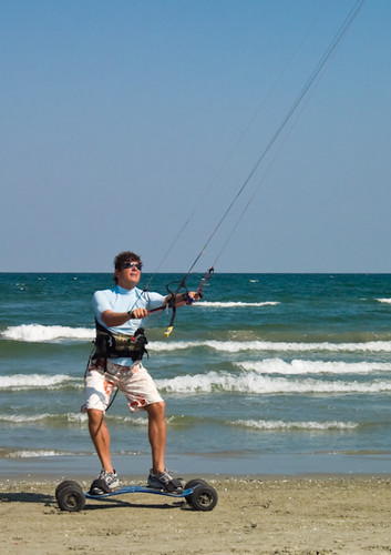 kiteboarding. land kiteboarding