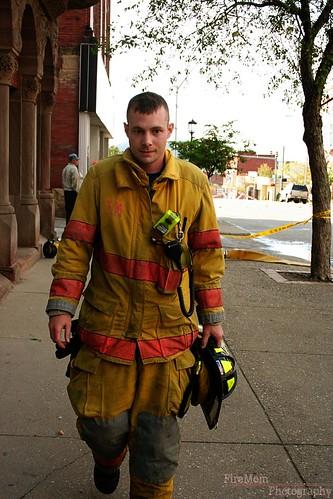 Firefighter Walking