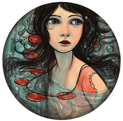 New Painting: Offshore (verpabunny) Tags: seattle original painting october acrylic circles kellyvivanco halogengallery