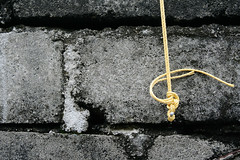 freedom... (Ay4d) Tags: wall freedom steel bricks nail cement rope knot tied moulds