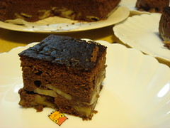Chocolate Cake with Banana/Walnut