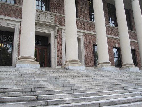 The steps of Widener Library