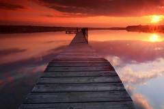 Dolsk Pier (maciej.ka) Tags: lake poland polska pole lan polen ba pologne  polsko wielkopolska  puola poloni  polnia poljska  polandia   polishlandscape dolsk   lakeatsunset