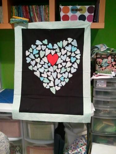 Scrappy Preemie Quilt 1: Hearts