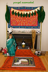 Pongal Decortions with Golu (Jennifer Kumar) Tags: america asian decoration culture celebration tamil pongal 2007 rangoli kolum asiasouth tamilfestivals pongalinamerica asamsakal alaivanijan09 indiainamerica indiancultureinamerica indiaamerica ethnicamericasouth