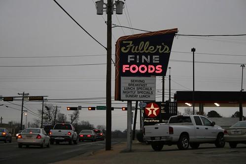 fuller's fine foods neon sign