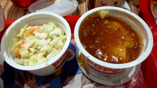 coleslaw + potato