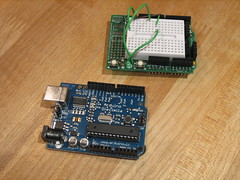 Arduino and ProtoShield separate