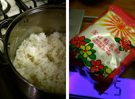 Cooking the grated radish