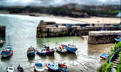Happy Miniature Sunday! (larigan.) Tags: uk england boats cornwall unitedkingdom harbour newquay lowtide fishingboats soe hms tiltshift tiltshift12 fakeeffect coastuk larigan phamilton happyminiaturesunday assignment52052009 welcomeuk licensedwithgettyimages
