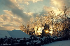 Sunset thru Ice (ted @ndes) Tags: winter sunset sky white snow storm ice clouds kentucky ky sony january louisville 2009 dxpro a700 16105mm