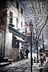 snow day in philly (explore) (EricSison.com) Tags: street city winter urban snow philadelphia night canon sidewalk fourseasons snowing philly northernliberties 4seasons standardtap canon1740lf4 canon1dmkiin
