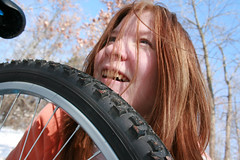 From the start of a bike ride to the end[Day38]* (Chapendra) Tags: smile bike wheel wonder woods seat tire bikeride awe 365days yearthree saturatedsaturday