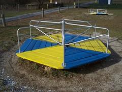 OH East Liberty - Playground 3 (scottamus) Tags: old ohio playground vintage furniture equipment merrygoround eastliberty logancounty