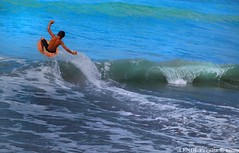 Learning how to board (JanLendL [too busy!]) Tags: beach kid philippines sanjuan 1855 launion boogieboard d40 atomicaward