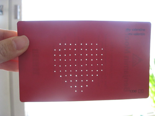 card with pin holes
