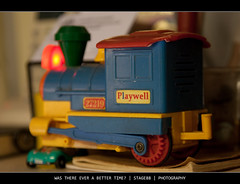 Was There Ever A Better Time? (Sam Ili) Tags: old color train canon toy junk playwell 450d canon24105mm4