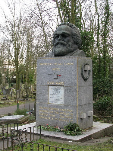 Karl Marx's tomb at Highgate Cemetery