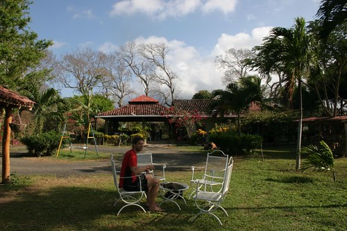 At the Hotel Finca Playa Venecia, Isla Ometepe.
