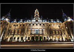 Rotterdam City Hall (DolliaSH) Tags: holland dutch photoshop canon eos rotterdam nightshot tripod nederland thenetherlands wideangle ultrawide 2009 efs 1022mm hdr coolsingel cs4 photomatix 50d tonemapping tonemap eos50d canon50d detailsenhancer dollia dollias sheombar cityhallrotterdam