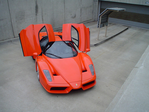 orange enzo ferrari