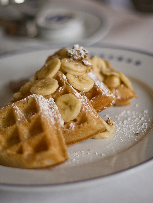 Sourdough Waffles & Bananas - Bouchon, Las Vegas