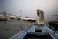 . (sengsta) Tags: india river dawn boat boatman ganga ganges banaras benares uttarpradesh varnasi shamumuji