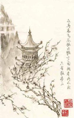 Сакура на гравюре