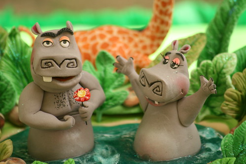 motto motto from madagascar 2. MADAGASCAR CAKE -GLORIA Y MOTO