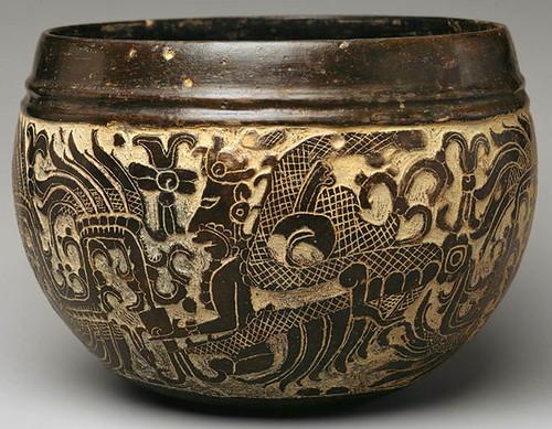 006 -Bol Tallado cerámica siglo VI -México o Guatemala
