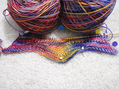 Chevron Scarf in progress
