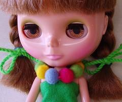 Blythe felted necklace