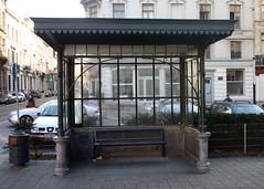 Tramhuisje, Schaarbeek (Erf-goed.be) Tags: geotagged brussel schaarbeek archeonet haachtsesteenweg tramhuisje geo:lon=43732 geo:lat=508641
