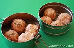Kim chi rice balls
