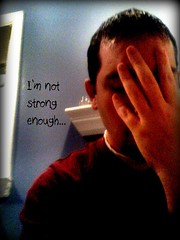 91/365 - I'm not strong enough... *Explored!* (bp6316) Tags: bathroom lyrics brandon trf 365 blackhawk day91 fakeit iphone handonface trp project365 3652009 todaysrandomfact notstrongenoughtosayno