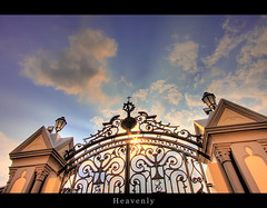 Heavenly (LifeInMacro | Thainlin Tay) Tags: church chijmes canon singapore gate iron heaven catholic rip convent pearly hdr efs1022mm  5photosaday 40d earthasia