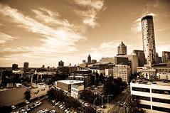 ATL (Ben Brinker) Tags: park atlanta sepia ga georgia centennial nikon day cityscape ben atl picture 4th july olympic 12mm independence fourth tones westin f4 brinker d90 of