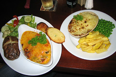 Vege Lasagne and Cottage Pie