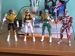Power Rangers Super Legends (Exia93) Tags: white green gold ranger power super lord legends mighty rangers zeo zedd morphin