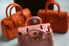 Mini Birkin bag up close (lili_mini) Tags: bag toys miniature mini rement hermes lv louisvuitton birkin secretset departmentstoreseries