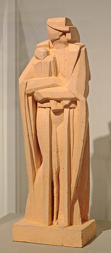 "Teracotta statue, ""Modern Madonna"", by John Storrs, ca. 1918-1919, at the Saint Louis Art Museum, in Saint Louis, Missouri, USA"