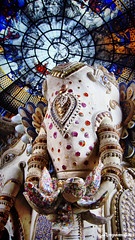 Guardian /  (AmpamukA) Tags: elephant glass statue ceiling stained thai museam erawan samutprakarn          ampamuka