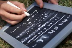Menu (Elisabeth de Ru) Tags: france menu frankrijk chalkboard celisabeth85flickr sonydslra300 kidsarecooking summerholidayjuly2009 ©elisabethderu