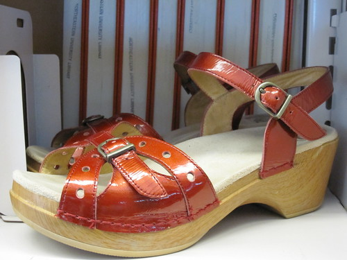 patent red dansko sandals