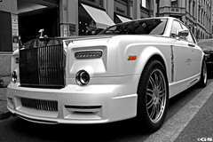 Mansory Conquistador (Germanspotter) Tags: auto street summer white black slr beauty car canon germany munich mnchen deutschland photography eos power sommer rollsroyce spot exotic coloring phantom saloon luxury rare 2009 find selective conquistador mansory 450d carparazzi germanspotter